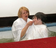 Baptism at the First Baptist Church of Sharon